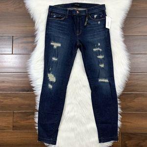 J Brand Cropped Skinny Denim Jeans